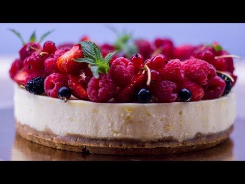 Чизкейк. Рецепт десерта из Европы. Простой европейский торт с сыром.