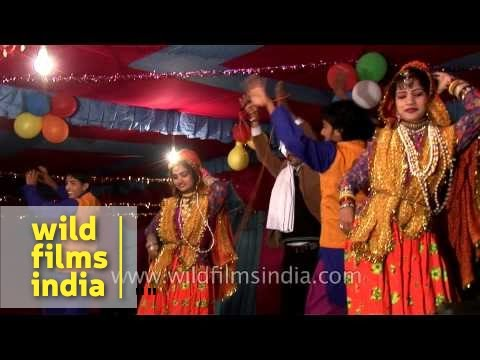 Dancers performing on Kumaoni song