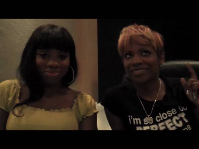 Kandi, Jessyca Wilson, &amp; Blac Elvis in the studio
