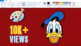 How to Draw Donald Duck in MS Paint