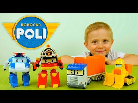 Робокар Поли и Малыш Даник спасают грузовик Терри - Видео для детей.  ロボカーポリー 로보카 폴리   Ro bo ka Poll