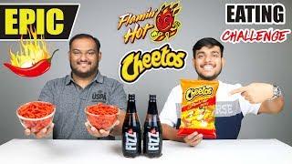EPIC FLAMIN HOT CHEETOS EATING CHALLENGE   Hot & Spicy Cheetos Eating Competition   Food Challenge