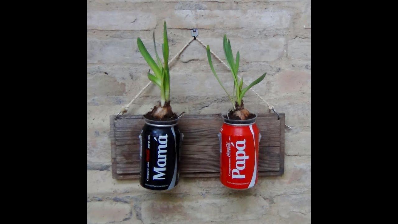 Mi jard n vertical con material reciclado pap y mam - Material para jardin ...