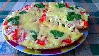 Как сделать пиццу в сковороде. Простой Недорогой рецепт