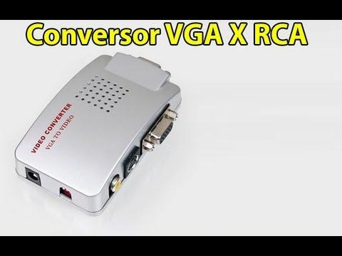 Conversor Pc Tv De Vga Para Av C/ Saídas Vga, Rca E S-vídeo - L491Pi
