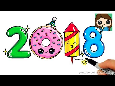 How to Draw 2018 Happy New Year