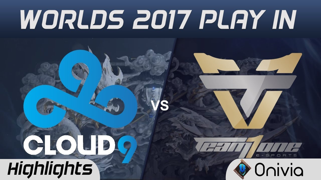 C9 vs ONE Highlights WORLDS 2017 Play In Cloud9 vs Team One by Onivia