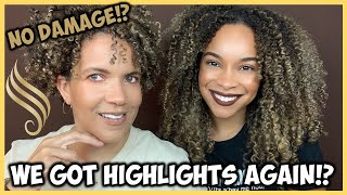 Why We Got Highlights AGAIN?! | How We Avoid Damage To Our Curls