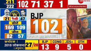 BJP takes big lead; Watch BJP's Sambit Patra speaking to Zee News editor Sudhir Chaudhary