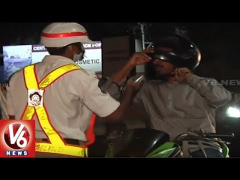 Hyderabad Traffic Police Conducts Drunk And Drive Test | 36 Vehicles Seized | V6 News