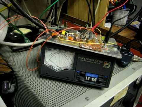 Homebrew 30m 40m 80m QRP Amateur Radio Transmitter