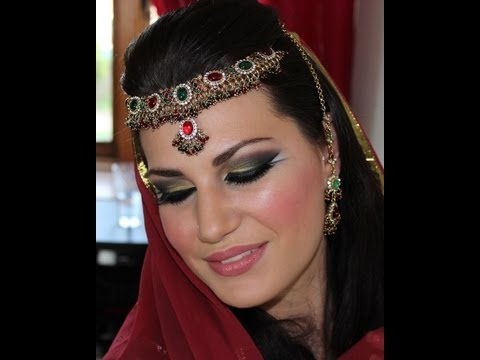 Exotic Arabic Inspired Makeup - Gold, Green & Red المكياج العربي