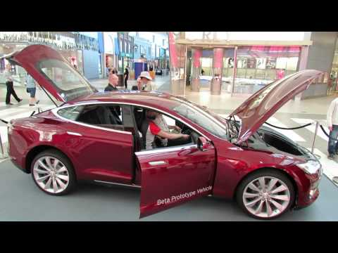 2013 Tesla Model S Electric car - Interior and Exterior - Carrefour Laval. Quebec. Canada