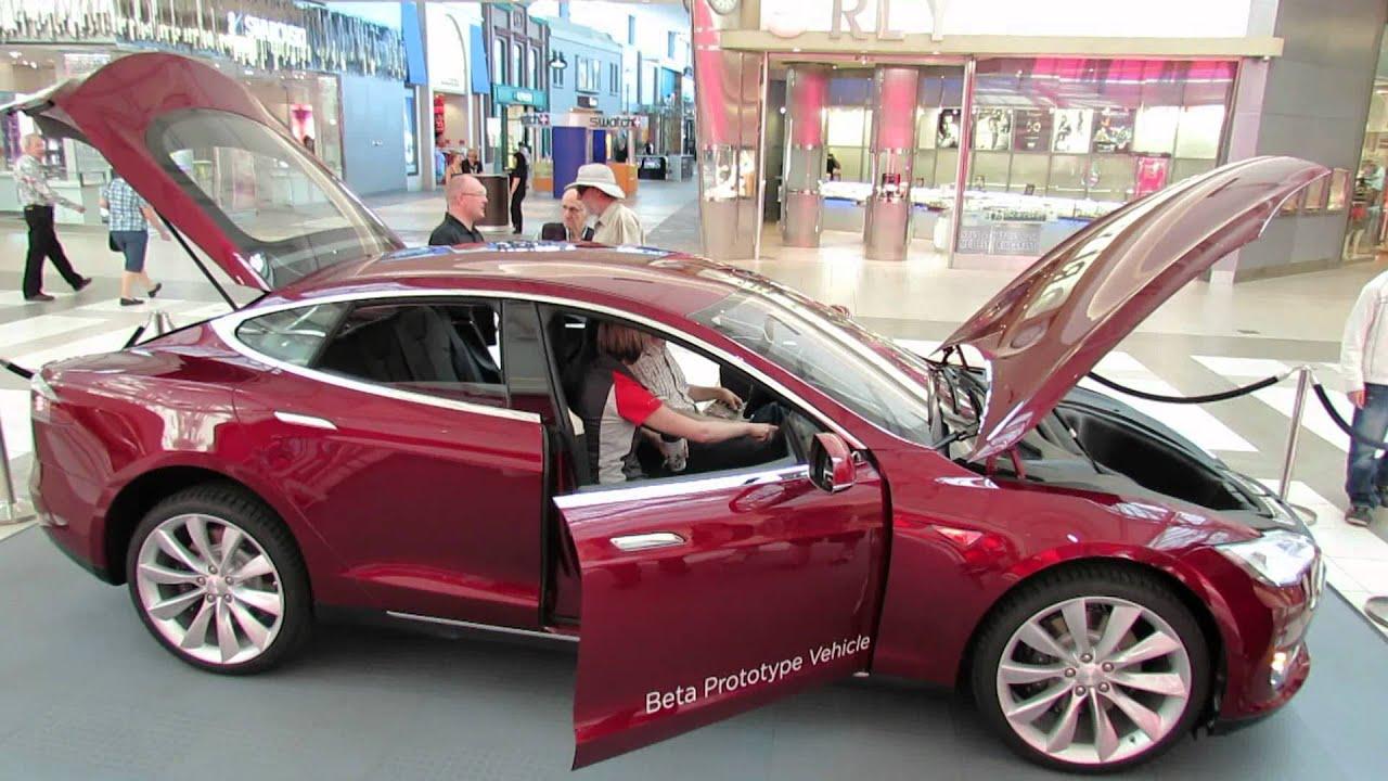 2013 tesla model s electric car interior and exterior carrefour laval quebec canada youtube. Black Bedroom Furniture Sets. Home Design Ideas
