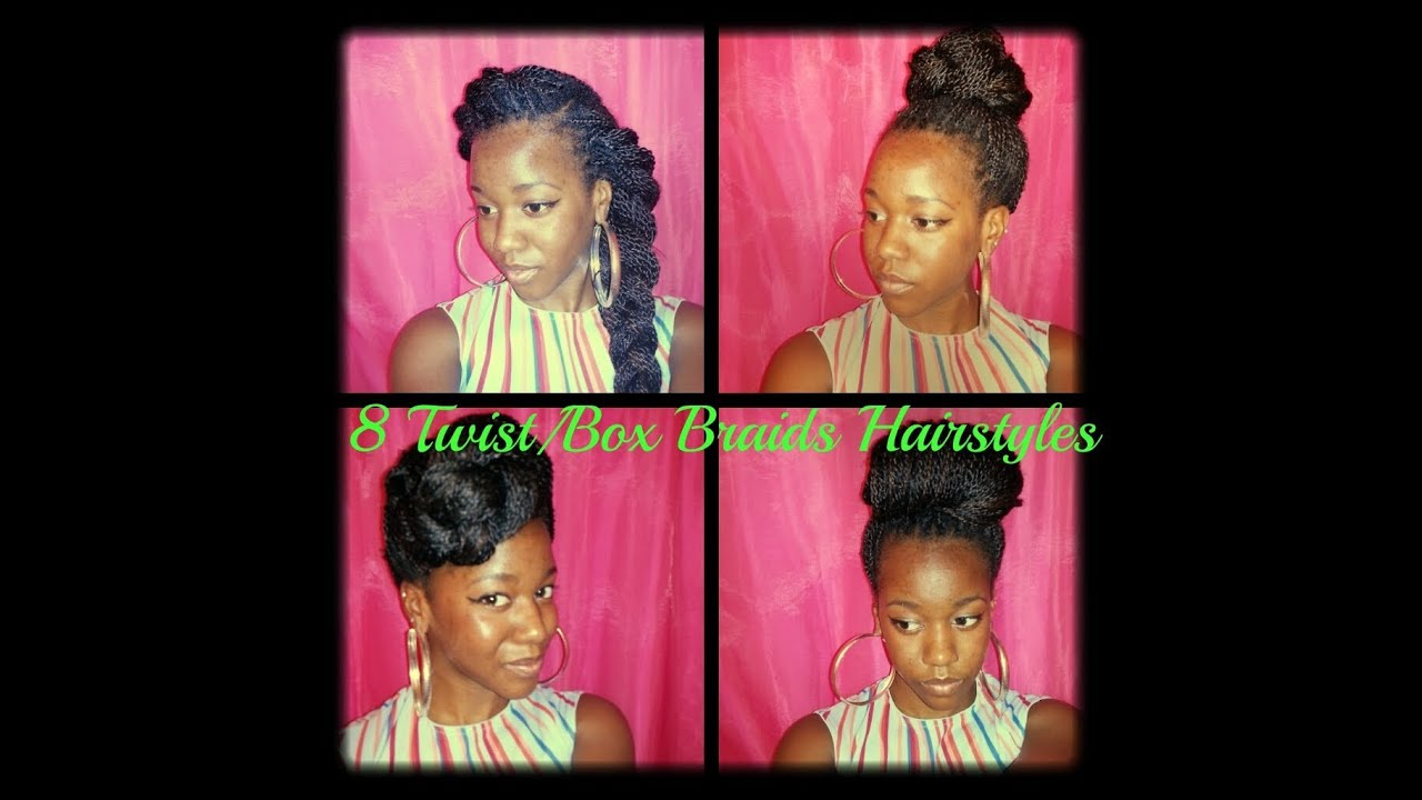 Hairstyles for Senegalese Twists/Box Braids (pt.3) - YouTube