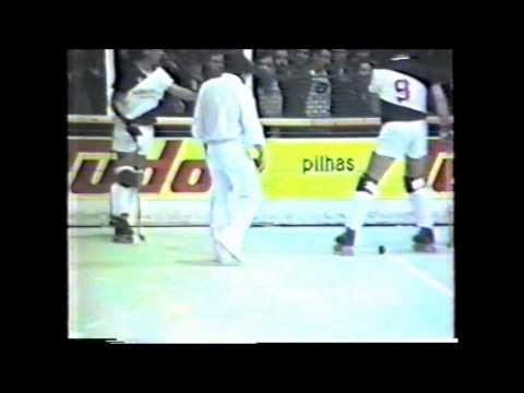 Hoquei em Patins :: Reportagem Viareggio na Nave de Alvala em 1987/1988 Taça CERS