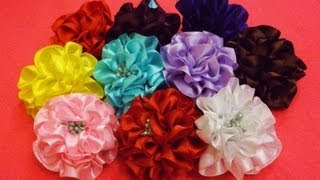 D.I.Y. Full Bloom Satin Ribbon Flower - Tutorial | MyInDulzens