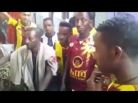 Ethiopian coffee supporters giving Easter gift for elders.
