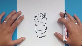 Como dibujar a Panda paso a paso - Somos Osos | How to draw Panda - We Bare Bears