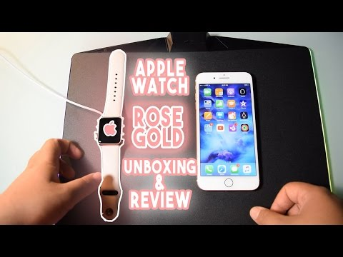 Apple watch Rose Gold 38mm Unboxing and Review