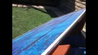 2013 Super cheap EVA alternative DIY solar panel encapsulation the test pt2/2