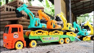 Toy Truck Transport  Excavator | Dump truck | Wheel loader