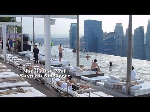 Marina Bay Pool Skypark Sands Singapore / Amazing View ...