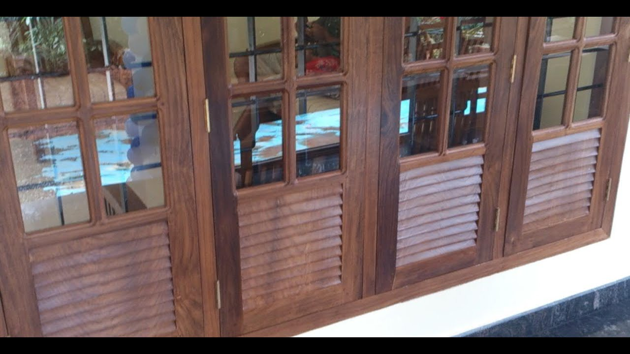 Kerala style wooden window for home youtube for Window design for house in india
