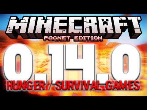 MCPE 0.14.0 HUNGER GAMES SERVER BETA GAMEPLAY | Minecraft PE (Pocket Edition)