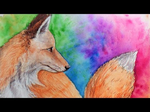 How To Paint a Fox in Watercolor Pencils Real Time Tutorial & Pencil Giveaway