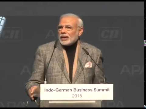 Narendra Modi's speech at Indo-German Business Summit in Hannover