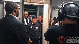 Yuriorkis Gamboa arrives to the State Farm Arena in Atlanta for championship showdown vs Tank Davis
