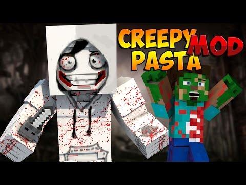 Minecraft Mods: Creepy Pasta Mod - JEFF THE KILLER, SQUIDWARD, PEWDIEPIE?! (Minecraft Mod Showcase)
