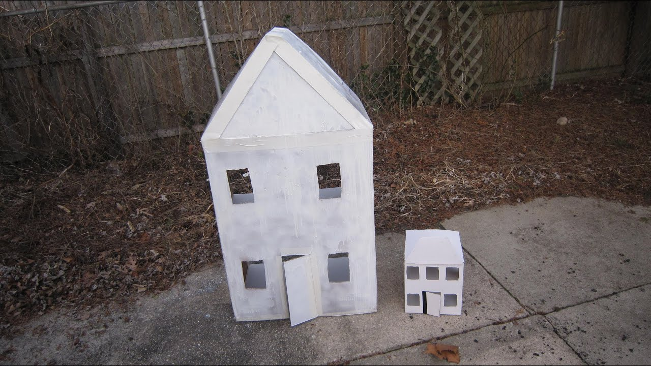 How to make a cardboard house with recycled materials ep for Materials needed to build a house