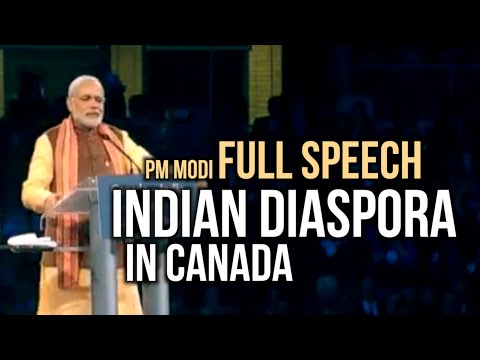 PM Modi speech to Indian Diaspora in Canada | Full Speech