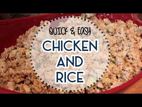 Healthy & Gluten-Free Chicken and Rice Casserole Recipe