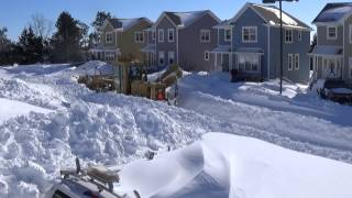 Snow Plowing on Prince Edward Island, CANADA