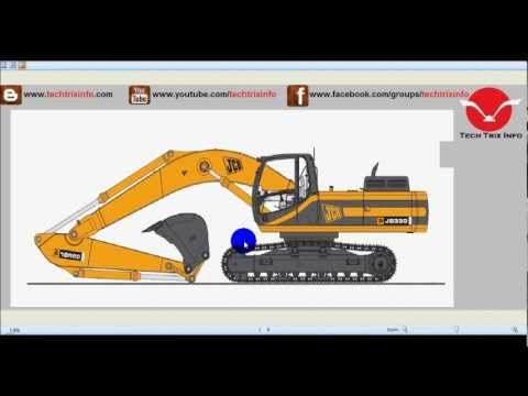 How Tracked Excavator Machine Works Youtube