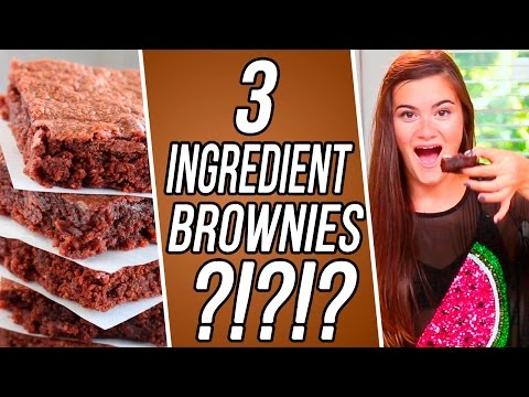 2 Ingredient Nutella Brownies?! CloeCouture 3 Items Or Less!