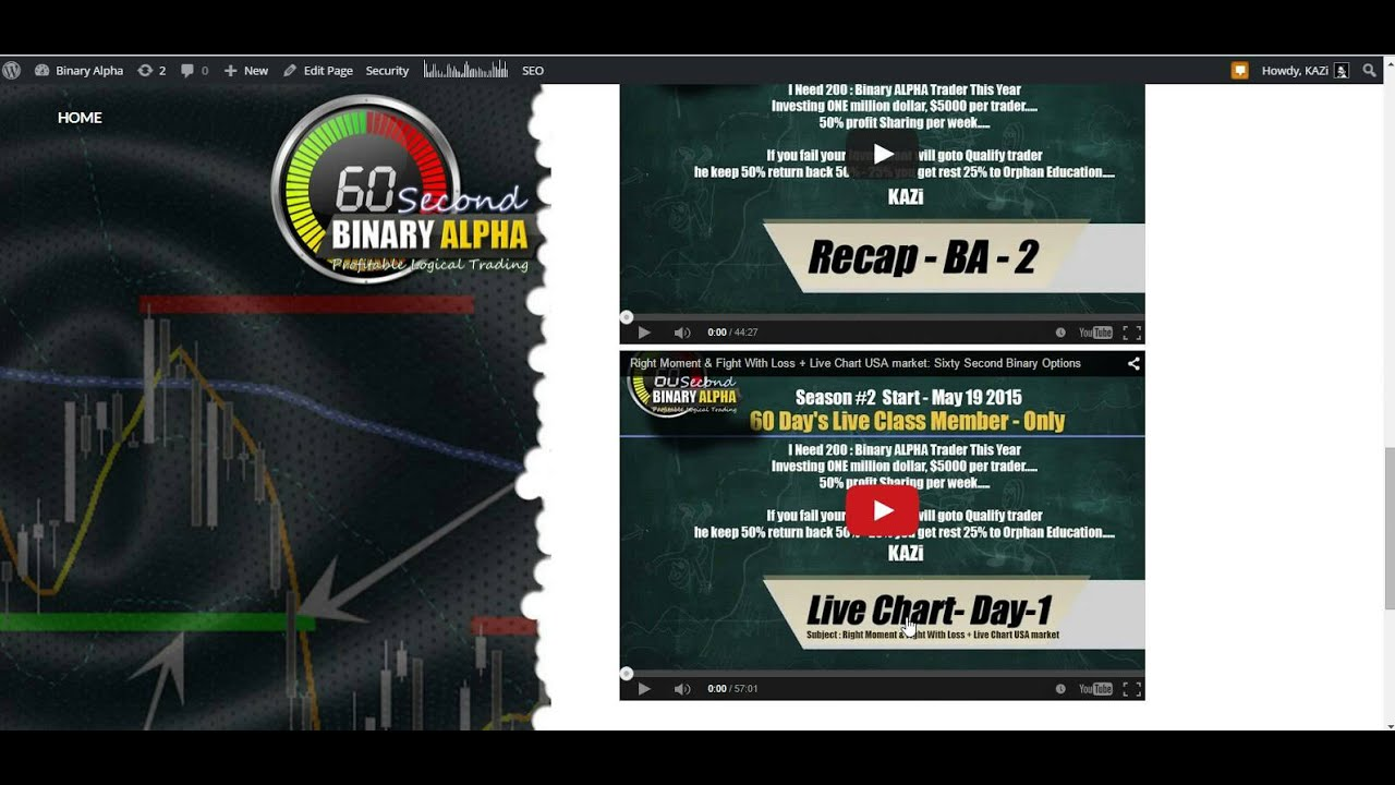 binary options forex strategy