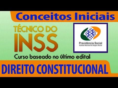 Aula Gratuita Para O Concurso Técnico Inss - Direito Constitucional video