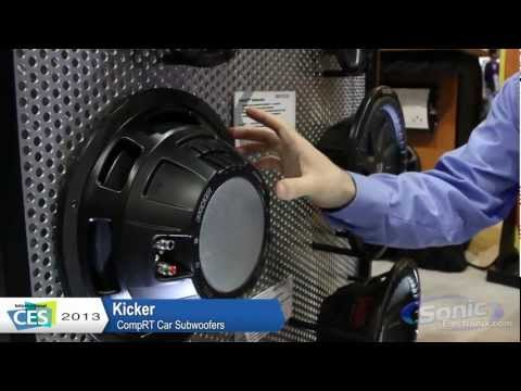 Kicker CompRT Shallow Subwoofer -- The new CompVT (CVT) | CES 2013