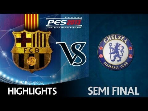 [ttb] Champions League Series Pes 2013 - Barcelona Vs Chelsea Highlights Semi Final! video
