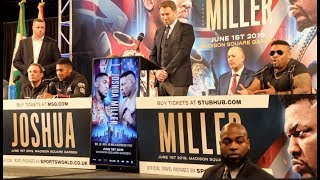 ANTHONY JOSHUA v JARRELL MILLER - FULL & UNCUT EXPLICIT NEW YORK PRESS CONFERENCE (STRONG LANGUAGE)