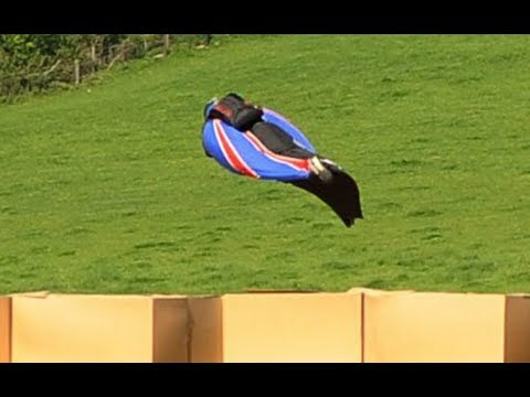 Wingsuit Daredevil Stuntman Gary Connery Jumps From 2,500ft Without Parachute video