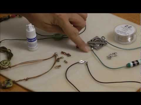 3 Simple Ways to Finish Leather Cord Necklace Tutorial - Beginner AntelopeBeads.