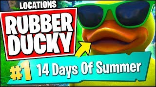 VISIT A GIANT BEACH UMBRELLA AND A HUGE RUBBER DUCKY IN A SINGLE MATCH (Fortnite 14 Days of Summer)