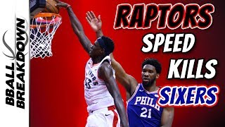 Raptors Speed Dismantles Sixers