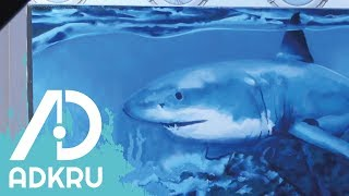 Spray Paint Shark Speedpainting | AdKru - Art Development