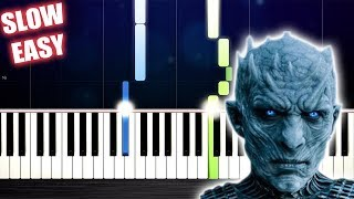 The Night King (Game of Thrones) - SLOW EASY Piano Tutorial by PlutaX